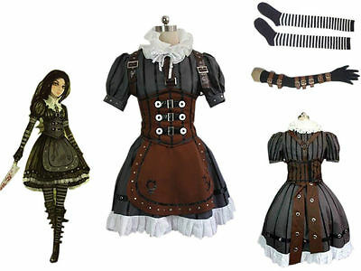 Alice Madness Returns Alice Stream Cosplay Costume Dress Halloween Suit