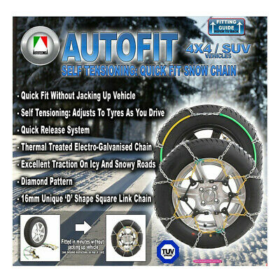 Snow Chain Kit 4X4 4Wd Suv 285/75 X 16 Tyres / Wheels / Rims Ca490