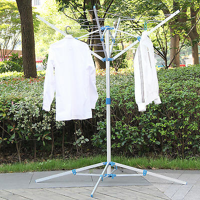Rotary Washing Line Outdoor - Clothes Airer Dryer Rack Folding Laundry 4 Arm