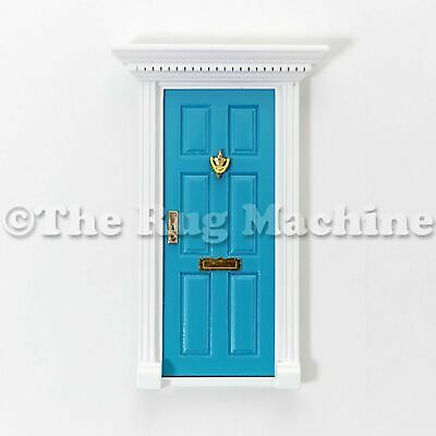 MAGICAL FAIRY DOOR - BLUE Wooden Miniature Doll Size|Aussie Company **NEW**