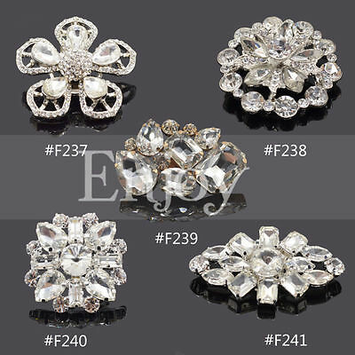 1 Pc Rhinestone Flower Shoe Clips Buckle Removable Vintage Glamour Lady Women