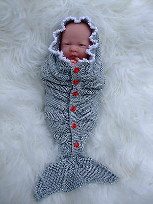 Paper Knitting Pattern To Make Miracle Mermaid Tails 4 Sizes For Dolls & Babies