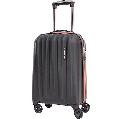 march - ROCKY -S- Trolley schwarz/orange 40Liter/55cm Bordgepäck, TSA-Schloss