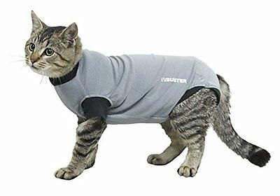 Buster Body Suit For Cats Grey/Black, 33CM XXS, Premium Service, Fast Dispatch