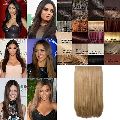 New Women'S One Piece 24''  Long Straight Clip In Hair Extension G0005B/g1Str