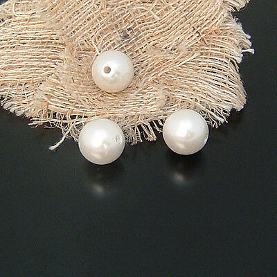 8mm 10mm Loose Round Ivory White Pearl Spacer Beads For Jewelry Craft Wedding