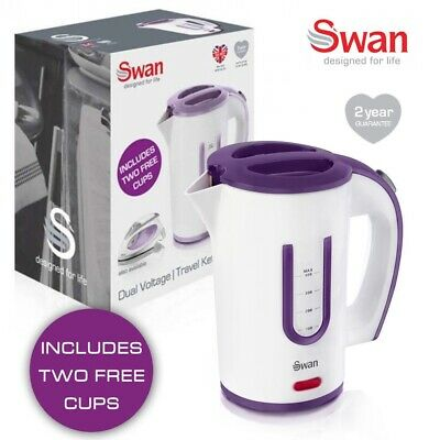 Swan SK27010N 0.4L Portable Travel Jug Kettle With Two Tea Cups