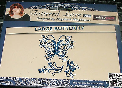 """Tattered Lace - """"large Butterfly"""" - 3 Dies - See Listing For Size"""