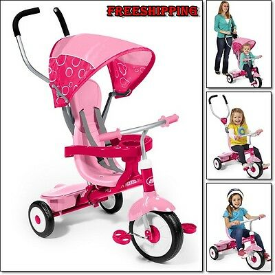 Trike Kid Tricycle Toddler Bike Sturdy Steel Frame Adjustable Seat Stroller Safe