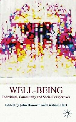 Well-Being: Individual, Community and Social Perspectives  New Book