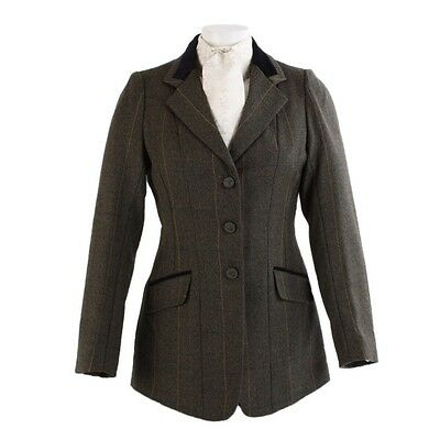 New Shires Ladies Huntingdon Show / Hacking Jacket Green Check