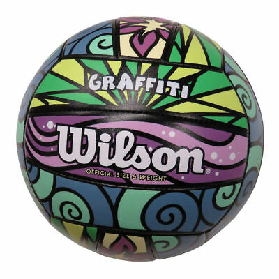 Wilson Graffiti Volleyball , Synthetic Leather Adult Size