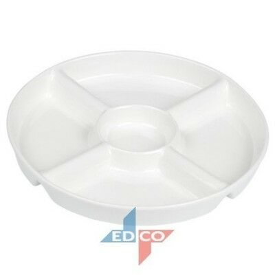 5 Compartment Porcelain Snack Dish Appetiser Dish (New 2015)