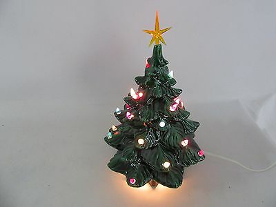 Decorative Porcelain Light Up Christmas Tree With Base & 25 Light Pegs