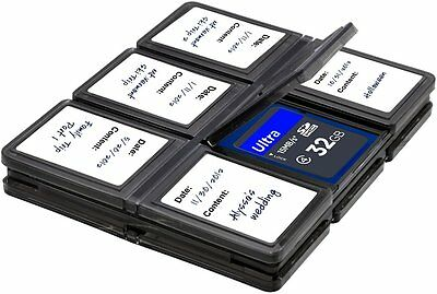 Foldable Memory Card Hard Plastic Case, Fits 12 SD/SDHC/Micro SD Cards