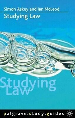 Studying Law (Palgrave Study Guides) - Very Good Book McLeod, Ian, Askey, Simon