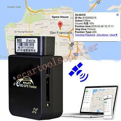 AUTO GPS Car Truck Vehicle Tracker GSM GPRS Tracking OBDII For iPhone Android