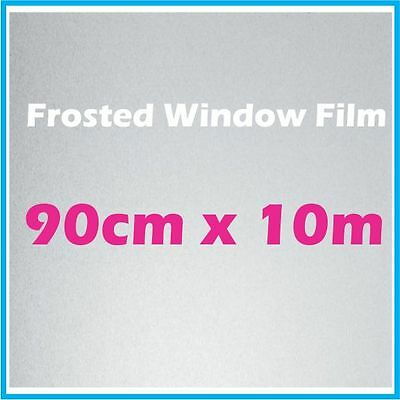 90CM x 10m Privacy Frosted Frost Frosting Window Glass Film Sticker