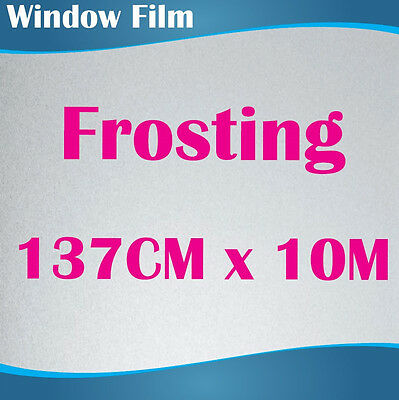 137CM x 10M Privacy Frosted Frost Frosting Window Film Sticker