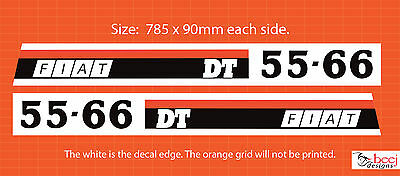Fiat DT 55-66 TRACTOR Bonnet Reproduction DECALS FIAT stickers