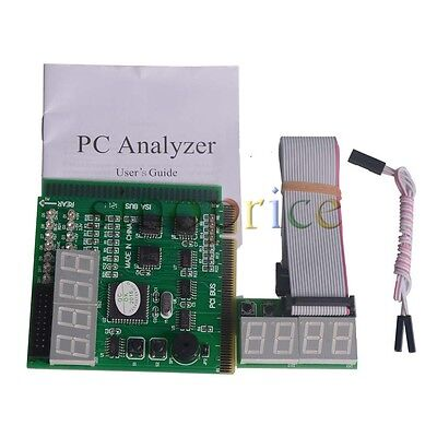 4 Digit PC Computer PCI ISA Motherboard Analyzer Tester Diagnostic Debug LCD