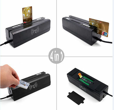 4-in-1 ZCS80 Magnetic Stripe & IC Card & Psam Card & RFID Card Combo reader&writ