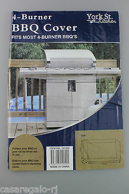 4 Burner Waterproof BBQ Cover Gas Charcoal Barbeque Grill Protector Garden Outdo