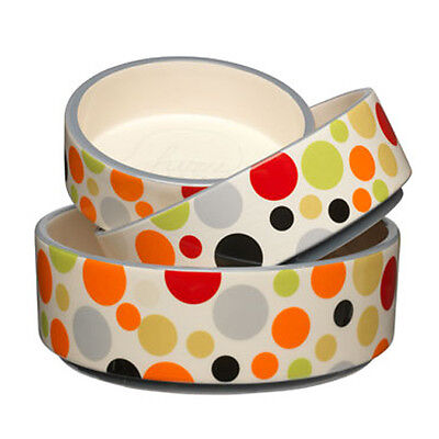Designer Ceramic Pet Dish - Festival design SML 16cm diameter and 4.5cm deep