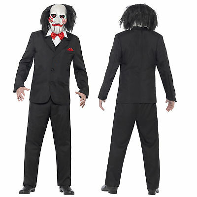 Saw Jigsaw Puppet Adult Halloween Costume Mens Licensed Fancy Dress Outfit