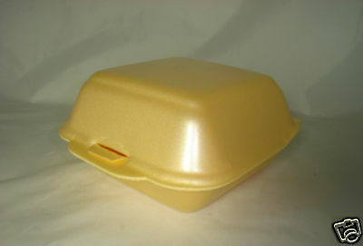 500 x Burger Boxes (SMALL)(SQ7/MP1) FOAM POLYSTYRENE FAST FOOD KEBAB CHIP (0104)