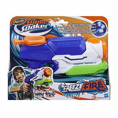 Nerf Super Soaker Freezefire Blaster Water Pistol Fires up to 38 Feet- 6+ Years