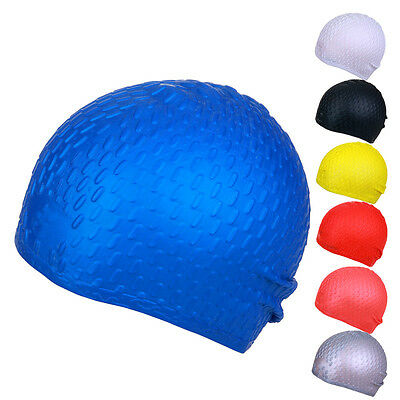 Adult Silicone Stretch Swimming Swim Cap Hat Ear Cup Cover Waterproof