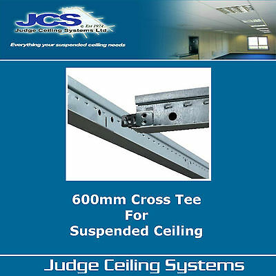 600mm White Shallow Cross Tees - Suspended Ceilings- Bars - Runners