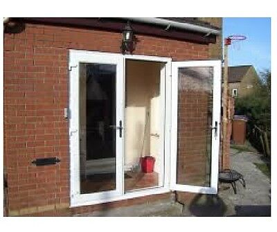 white upvc external georgian bar french doors side