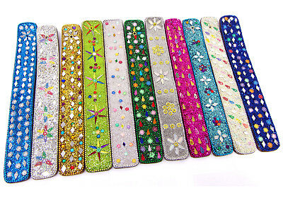 Glitter Sequin Beads Stone Wooden Incense Burner Holder Ash Catcher Inlay 10""