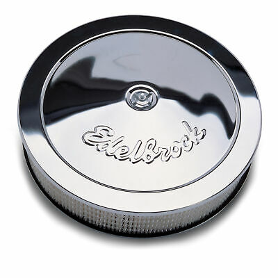 Edelbrock 1221 Chrome Air Cleaner for Edelbrock square-bore carbs and Q-jets