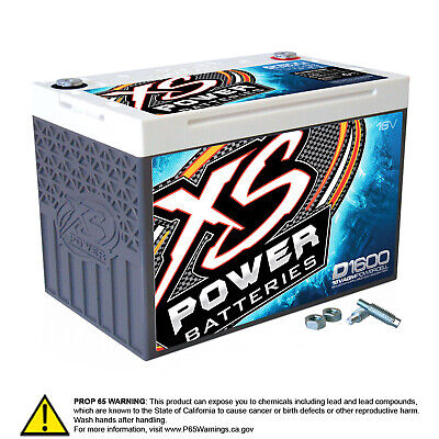 Xs Power D1600 16 Volt AGM Battery, Max Amps 2,400a Ca: 675a, 48.18lbs Group 34