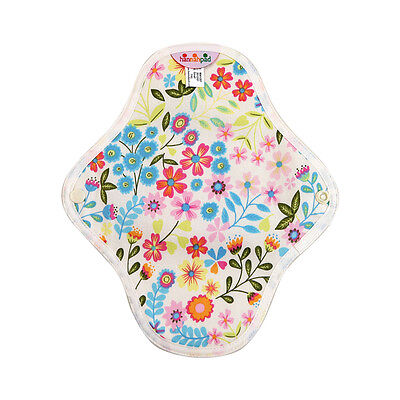hannahpad Certified Organic Washable Pantyliner - Flower Garden Blue (2 Pack)NEW