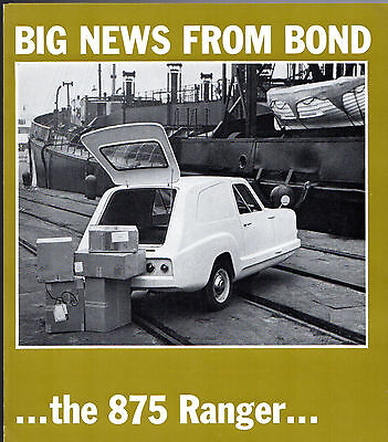 Bond 875 Ranger Van 1967-68 UK Market Foldout Sales Brochure