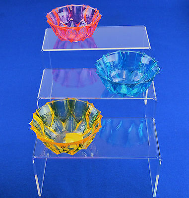 Set of 3 Acrylic Plinths / Display Stands