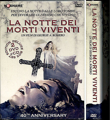 LA NOTTE DEI MORTI VIVENTI - COFANETTO 2DVD + CD audio, 40th Anniversario, NUOVO