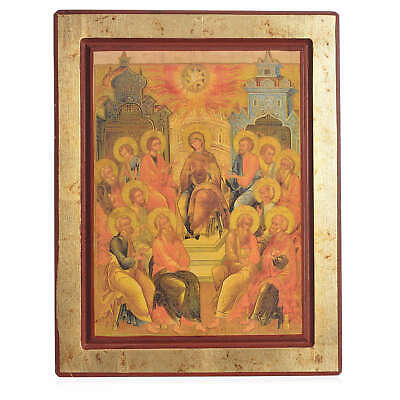Greek Serigraphy icon, Descent of the Holy Spirit