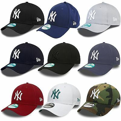 New Era 9FORTY New York Yankees Adjustable Baseball Cap - Black, Blue, Grey, Red
