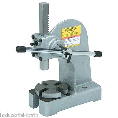 1 Ton Arbor Press Assembly Work Hand Operated Bench Mountable Heavy Duty Design