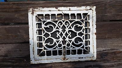 Antique Cast Iron Decorative Victorian Heat Floor Wall Register Vent Grate #5