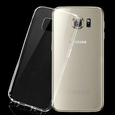 50 pcs lot New Ultra Clear Silicone Slim Soft Case Cover For SAMSUNG S6 edge