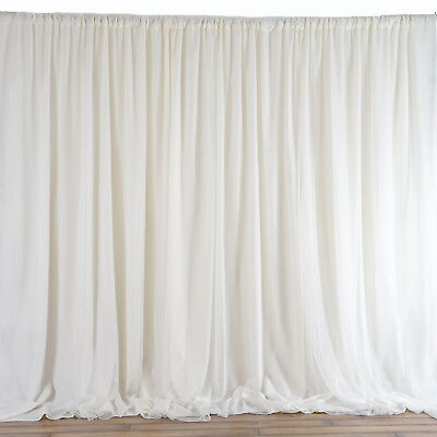 IVORY BACKDROP 20x10 ft Stage Party Wedding Tradeshow Booth Decorations SALE