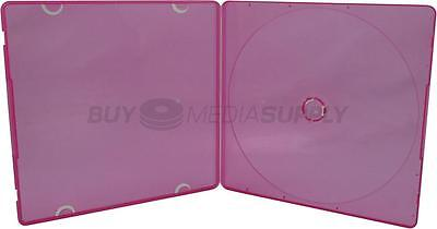 5mm Slimline Red Color 1 Disc CD/DVD PP Poly Case - 600 Pack