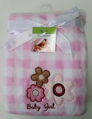 Newborn Baby Bedding Blanket Soft, Cozy, Snuggly Cute Baby Girl Flowers