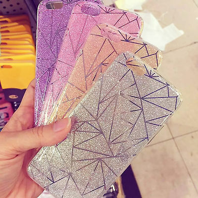Fashion Glitter Bling Ultra Slim TPU Soft Case Cover For Apple iPhone 7 Plus/6s